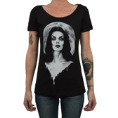 Moonlight by Shayne of the Dead Bohner Women's Tattoo Art Tee Shirt Vampire