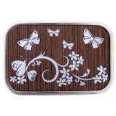 Butterfly stainless steel belt buckle.