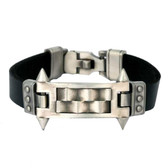 "Bico Leather Bracelet Mechanika ""Triumph Over Impossibility"" Pewter"
