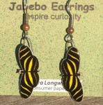 Zebra Longwing Butterfly Earrings 418Z