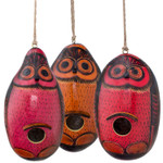 Lucuma Designs - Color Owl - Gourd Birdhouse