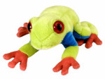 Wild Republic - Cuddlekins - Mini Red Eye Tree Frog 8""