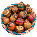 Owl Gourd Ornament, assorted designs