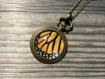 Chrysalis Studios - Monarch Pocketwatch Pendant - Gold