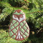 Terracotta Owl Ornament
