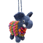 Elephant Alpaca Hand Knitted Ornament
