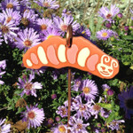 Terracotta Caterpillar Garden Tag/Ornament