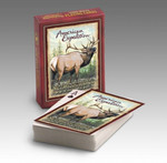 "Our Playing Cards are poker-sized decks with standard playing card faces and a full-color wildlife illustration on the back of each card. Interesting wildlife information is featured on the back of each deck's box.  Features the Quote: ""Just as the current can determine the course of the stream, our attitude can determine our direction through life."""