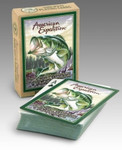 Largemouth Bass Playing Cards are poker-sized decks with interesting wildlife information featured on the back of box