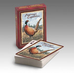 Pheasant Playing Cards are poker-sized decks with interesting wildlife information featured on the back of box