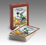 "Our Playing Cards are poker-sized decks with standard playing card faces and a full-color wildlife illustration on the back of each card. Interesting wildlife information is featured on the back of each deck's box.  Features the Quote: ""The benefits received from nature should be measured by the good it does for your soul."""