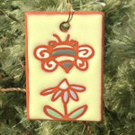 Terracotta Bee & Flower Garden Tag/Ornament