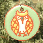 Kate Lally Terracotta Owl Ornament/Garden Tag