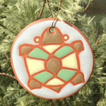 Kate Lally Terracotta Round Turtle Ornament/Garden Tag