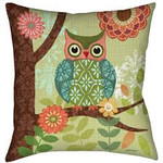 Forest Owls Pillow
