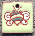 Terracotta Bee Square Ornament/Garden Tag