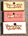 Terracotta Grasshopper Ornament/Garden Tag