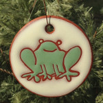 Frog ornament/garden tag.