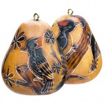 Woodpecker Handcarved Gourd Ornament