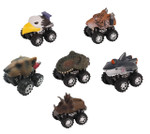 Push & Go Animal Friction Race Cars - Pull Back Toy Cars