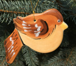 Handmade Ceramic Sparrow Christmas Tree Ornament
