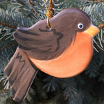 Handmade Ceramic Robin Christmas Tree Ornament