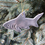 Handmade Ceramic Shark Christmas Tree Ornament