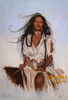 Penni Anne Cross 'Half Breed I Ach-hua-dlubh' Native American Canvas Art Signed & Numbered L/E