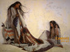 Penni Anne Cross 'Quilt Makers' Native American Canvas Art Signed & Numbered L/E