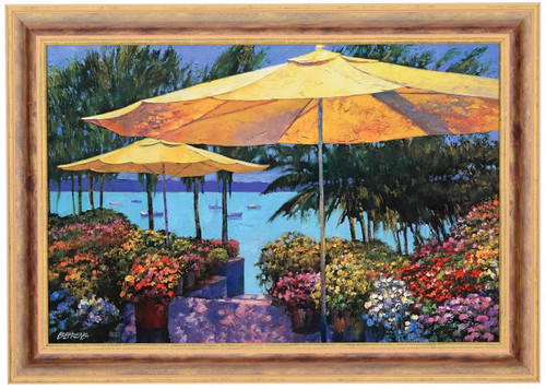 Howard Behrens 'Flowers by the Sea' Canvas Framed L/E Signed & Numbered