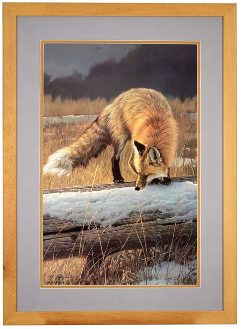 Nancy Glazier 'Out for Lunch' Red Fox Paper Print Framed L/E Signed & Numbered