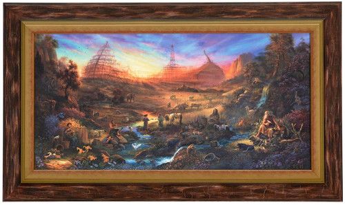 Tom duBois 'The Commission' Noah's Ark Canvas Framed Signed and Numbered L/E
