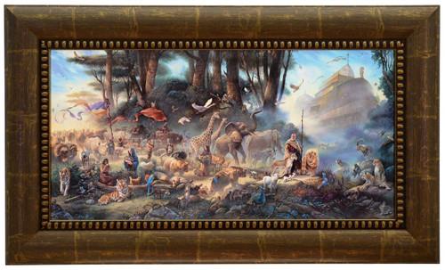 Tom duBois 'The Invitation' Noah's Ark Canvas Framed Signed & Numbered L/E
