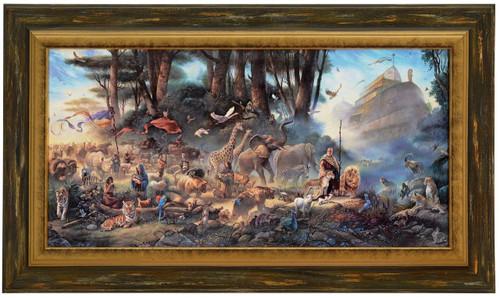 Tom duBois 'The Invitation' Noah's Ark Canvas Framed L/E Signed & Numbered