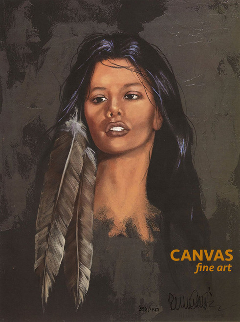 Penni Anne Cross 'Kendra' Native American Canvas Art Signed & Numbered L/E
