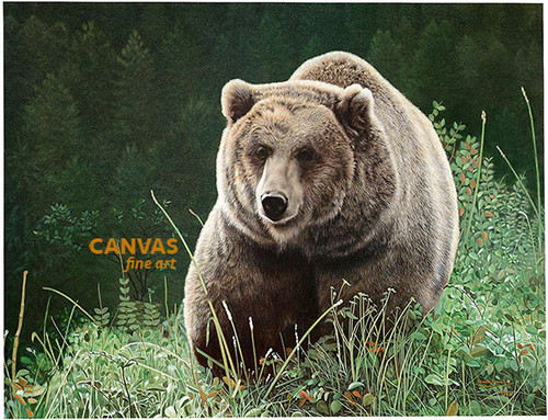 Charles Frace 'Unrivaled Grizzly' Bear Canvas Artist Proof L/E