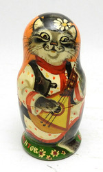 Folk Instruments Matryoshka Doll