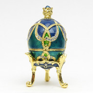 Mini Romanov Royal Aqua Egg Box with Crown