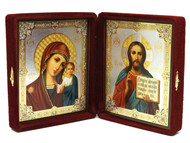 Christ and the Virgin Diptych Icon -  Matthew 11:28