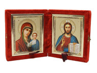 Christ and the  Virgin of Kazan Diptych Matthew 11:28