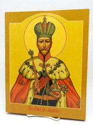 Holy Martyr Nicholas with Crown Icon