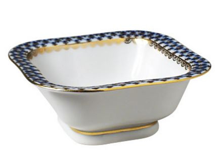 Cobalt Net Serving Dish