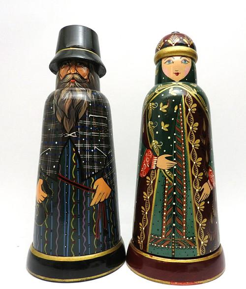 Old World Bottle Holder Pair