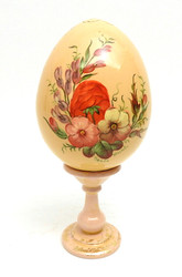 Zhostovo painted Easter Egg with stand (Жостовская роспись)
