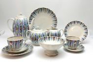 Sarafan (Сарафаны) 24-pc Coffee Set from Lomonosov Porcelain, St. Petersburg, Russia.