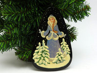 Russian Painted Christmas Ornament *Snow Maiden [10]