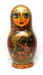 "Super 30-piece Russian Art Matryoshka ""Russian Fairy Tales"""