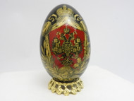Imperial Russian Eagle Decoupage Egg