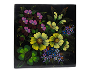 Decorative Painted Box Flower Bouquet from Veliky Ustyug