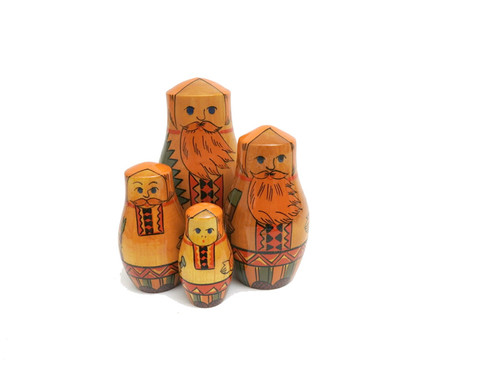"Vintage Brest matryoshka doll ""Carpenters"""